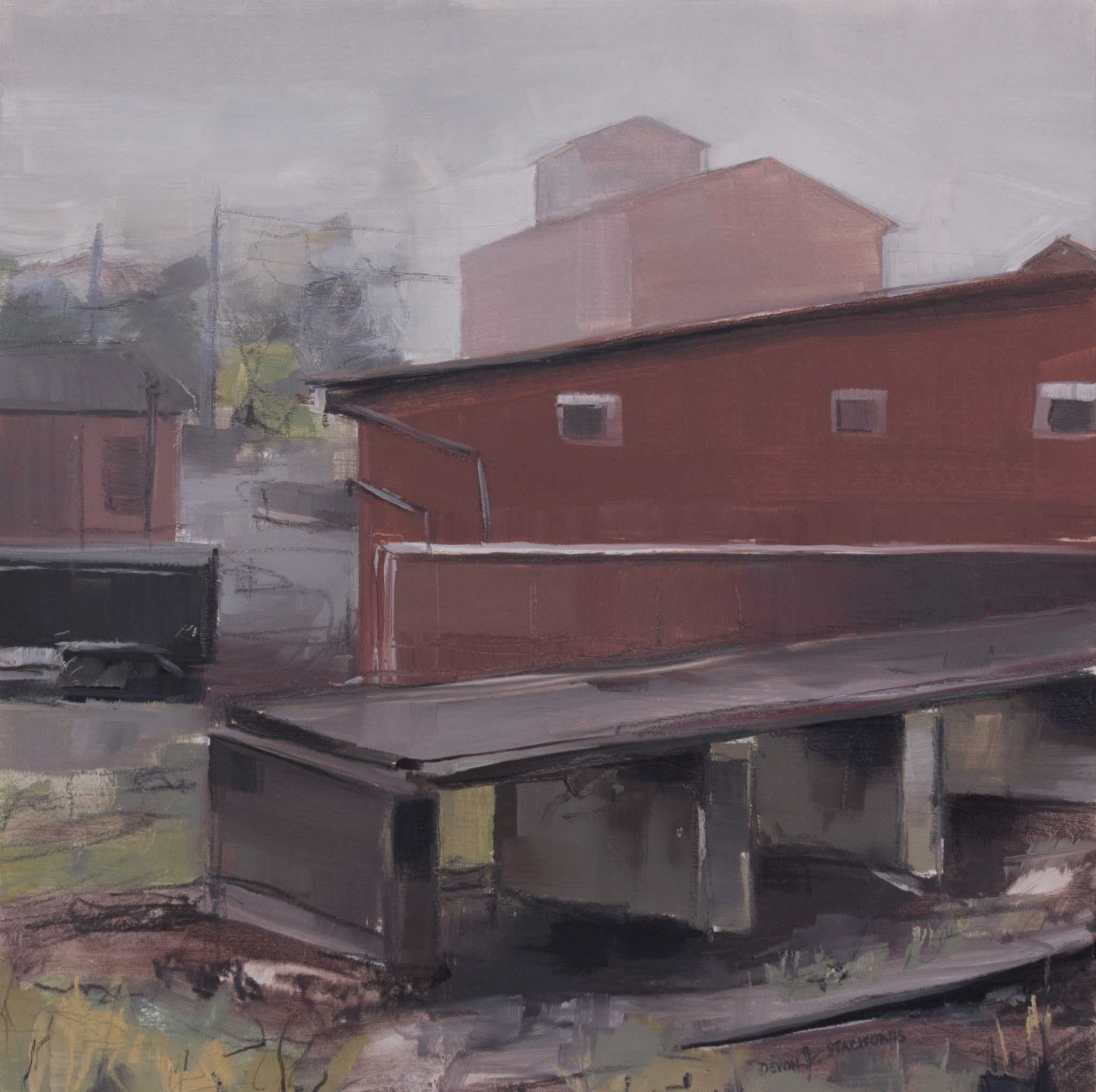 Fog Over Roller Mills Red Raven Art Company