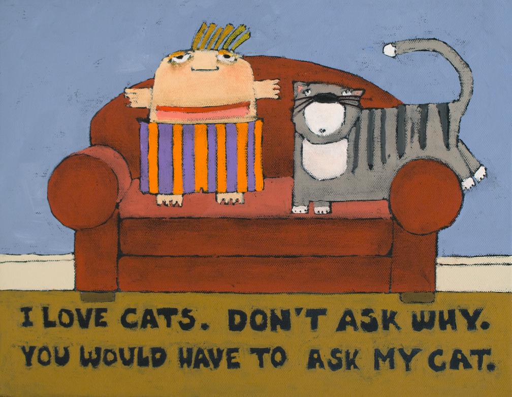 cat art for saled